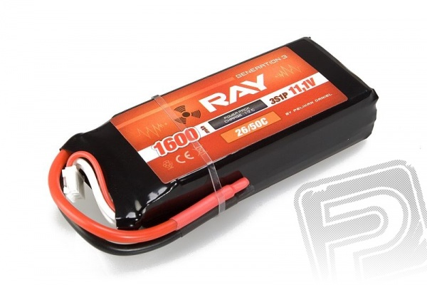 G3 - LC RAY Li-Pol 1600mAh/11,1 30/60C Air pack 17,8Wh