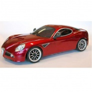 ALFA ROMEO 8C PAINTED BODY WITH DECALS AND ACCESS.