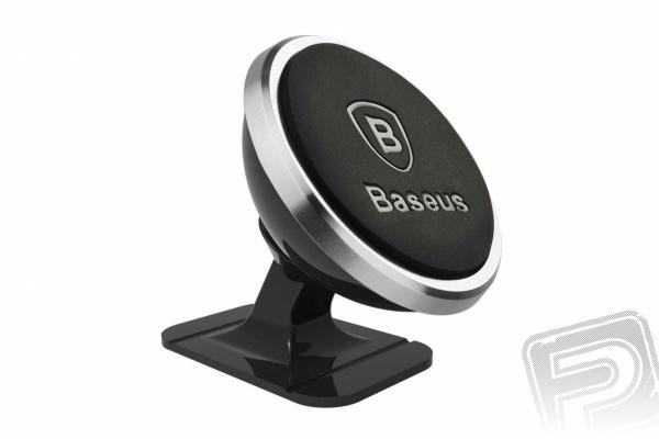 Baseus 360° magnetický držák mobilního telefonu (stříbrný)