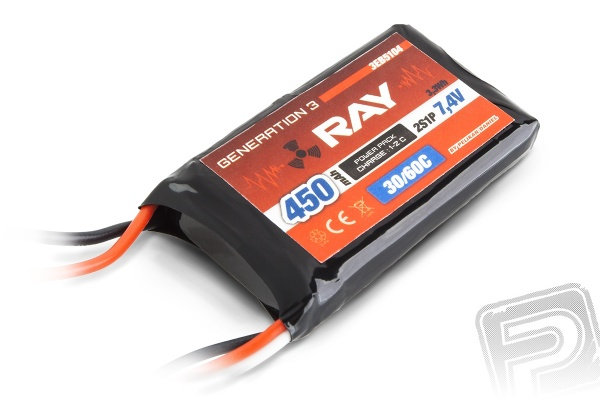 G3 RAY Li-Pol 450mAh/7,4 30/60C Air pack 3,3Wh