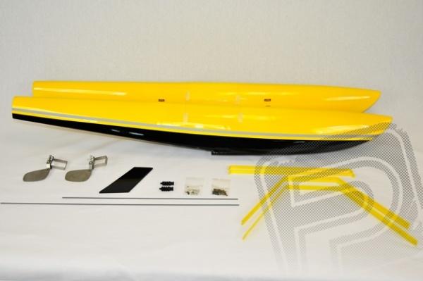 "84"" Turbo Bushmaster plováky sada – žlutá/černá"