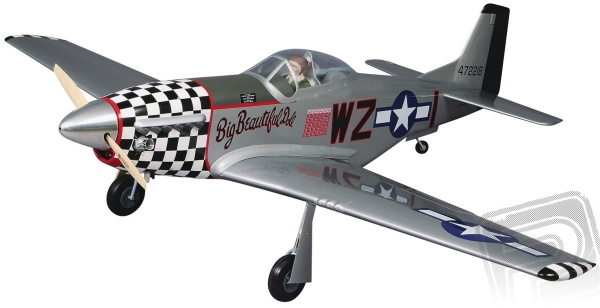 Giant P-51 Mustang 40-60ccm 2140mm ARF