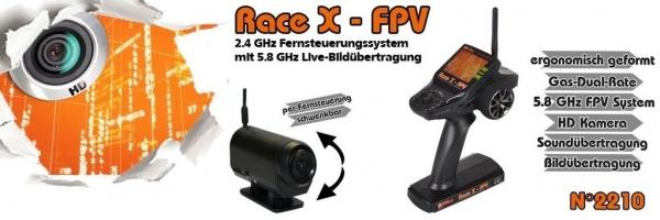 Race X - FPV RC souprava s LCD 720p