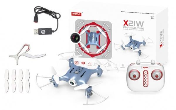 Syma X21W 2,4GHz - mini dron s barometrem a WIFI HD kamerou