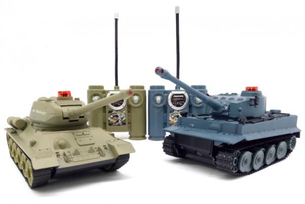 Sada bezpečných tanků German Tiger a Ruský T34 1:32 2.4GHz
