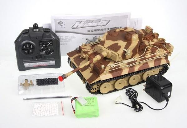 GERMAN TIGER 1/24 - střílející tank - žlutý