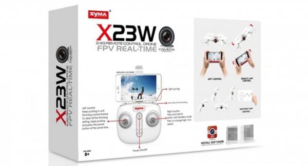 Syma X23W (2.4GHz, FPV WiFi kamera) - Bílý