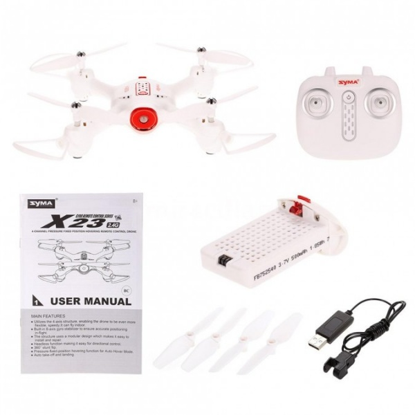 Syma X23 2.4GHz - Bílý dron pro začátečníky
