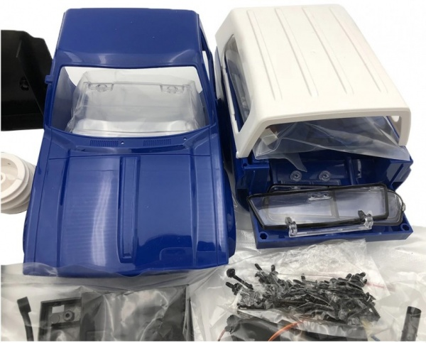 Car OFF-ROAD WPL C-24K 1:16 4x4 - KIT – modré