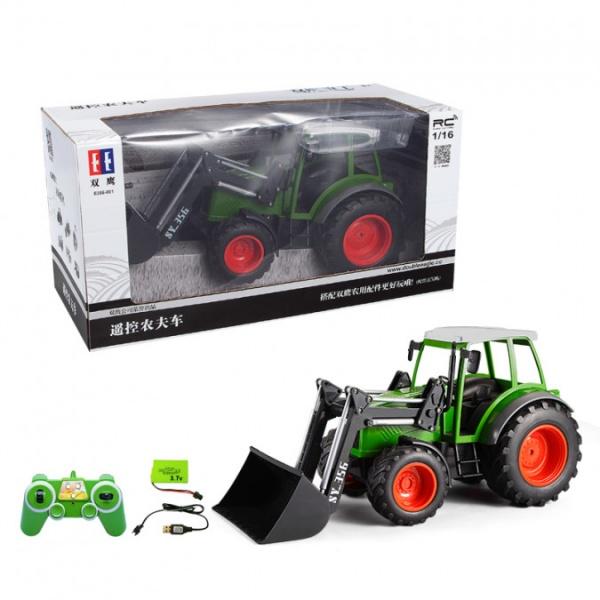 Traktor s funkčním čelním nakladačem 1:16