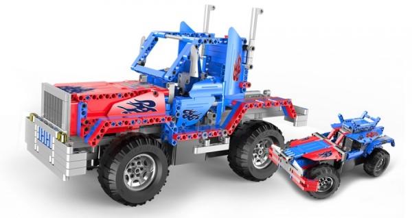 Stavebnice Truck a Buggy 2v1 - 531 dílků - auto na dálkové ovládání