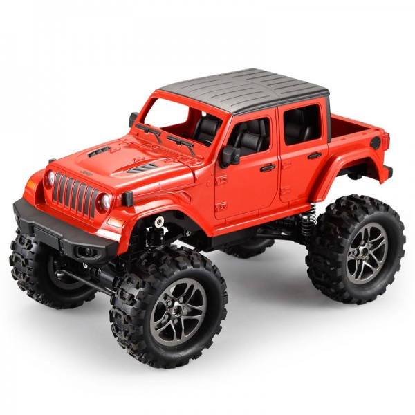 RC Crawler Jeep Wrangler Pickup 1:14 2,4 GHz - Červená