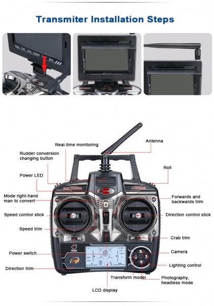 SPACE TREK + Barometr + FPV HD přenos videa