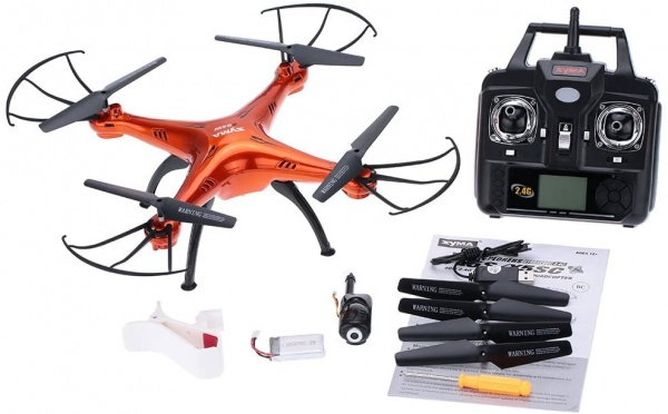 Syma X5Csw PRO - ORANGE - 50 minut letu - WiFi kamera s online přenosem