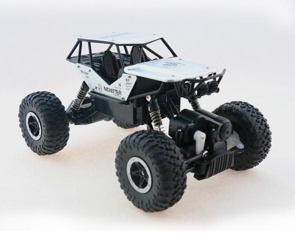 Strong Crawler 4x4 s kovovými díly - stříbrný
