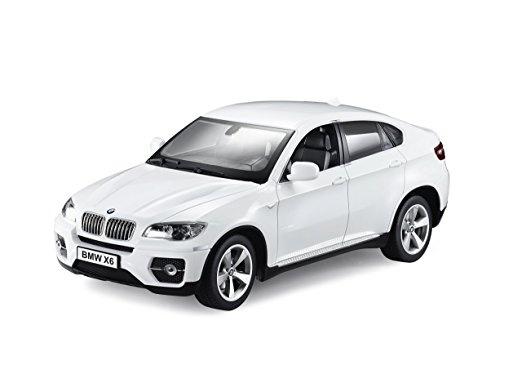 BMW X6 - bílá, auto na dálkové ovládání 1/16