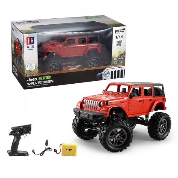 RC Crawler Jeep Wrangler Pickup 1:14 2,4 GHz - Zelená