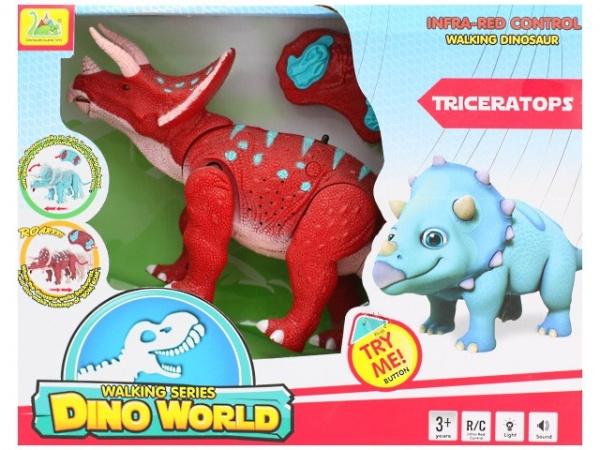 RC Dinosaurus Triceratops - červený