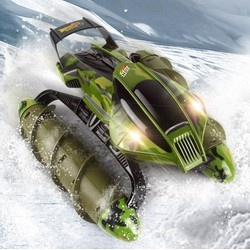 Obojživelník Amphibious Stunt Car - zelený maskáč