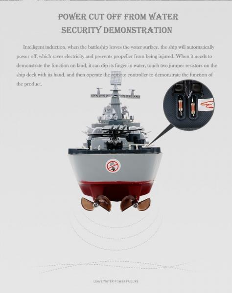 Bitevní loď USS MISSOURI (BB-63) 2,4Ghz 1/250 - 57cm
