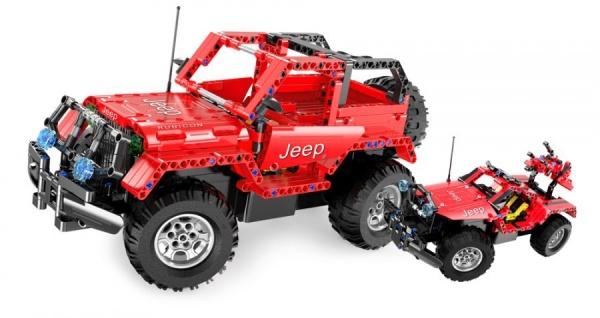 Stavebnice Jeep Wrangler 2v1 - 531 dílků - auto na vysílačku