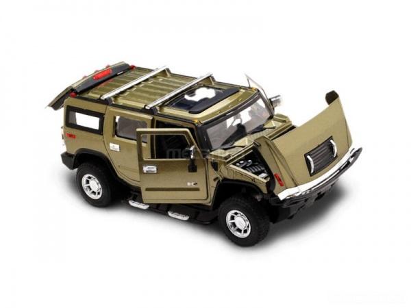 Odolný kovový Hummer H2 1:24 na dálkové ovládání