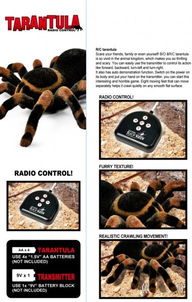 Tarantule na dálkové ovládání
