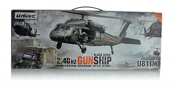 Black Hawk - Gunship - vojenský RC vrtulník 2,4Ghz