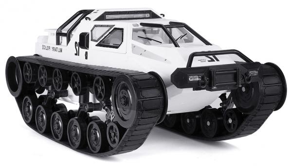 MILITARY POLICE pásové vozidlo 1:12, 2,4 GHz, RTR, bílá