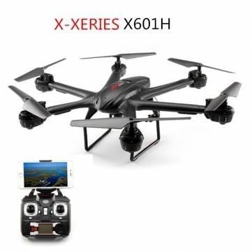 MJX X601H HEXA, BAROMETR, AUTONOMNÍ PROGRAMOVATELNÝ LET, BAROMETR, FPV, kamera C4015 ČERNÁ