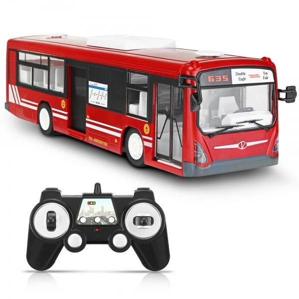 Městský autobus na dálkové ovládání - červený