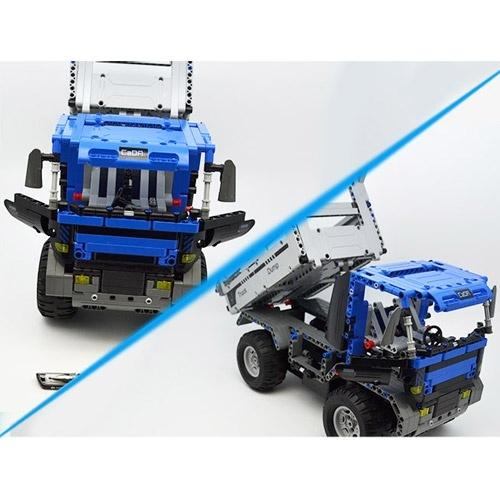 Stavebnice Sklápěč - Dump Truck - 638 dílků - auto na dálkové ovládání