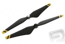 E305 - 9450 vrtule černo-žlutá plněná uhlíkovým vláknem (CW+CCW)