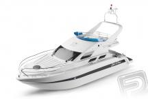 Saint Princess motorová jachta 670mm, RC set 2,4GHz - Použitá