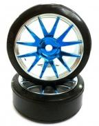 Koła na drift 1/16 2ks. - 09003PB modré