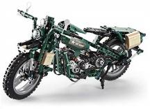Vojenská motorka - stavebnice - 550 dílků