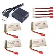 4x 1200mAh 3,7V + nabíječka na 4 baterie pro X5cHW, X5cH, X5HW, x5uw