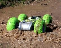 RC EXTREME Stunt - obojživelné RC auto - bez aku 2ks pneu