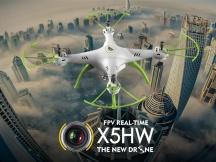 SYMA X5cHW - Wifi kamera - Aretace letové hladiny - chybí čepička na vrtuli, zásek na listech, zánovní