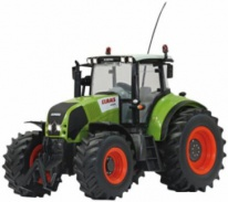 AXION CLAAS 850 - Traktor na dálkové ovládání 1/16 - poškrábaný, ve velmi poničené krabici, rozbaleno