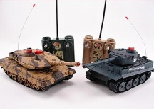 Sada bezpečných infra tanků 1/32, 2v1 - Otestováno Tiger chybná střelba
