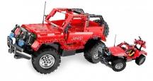 Stavebnice Jeep Wrangler 2v1 - prokluzuje převod