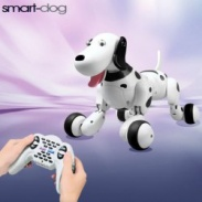 Robo-Dog - Pes na dálkové ovládání černobílý