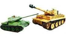 T-34/85 vs. German Tiger obří soubojové tanky 2 kusy v balení